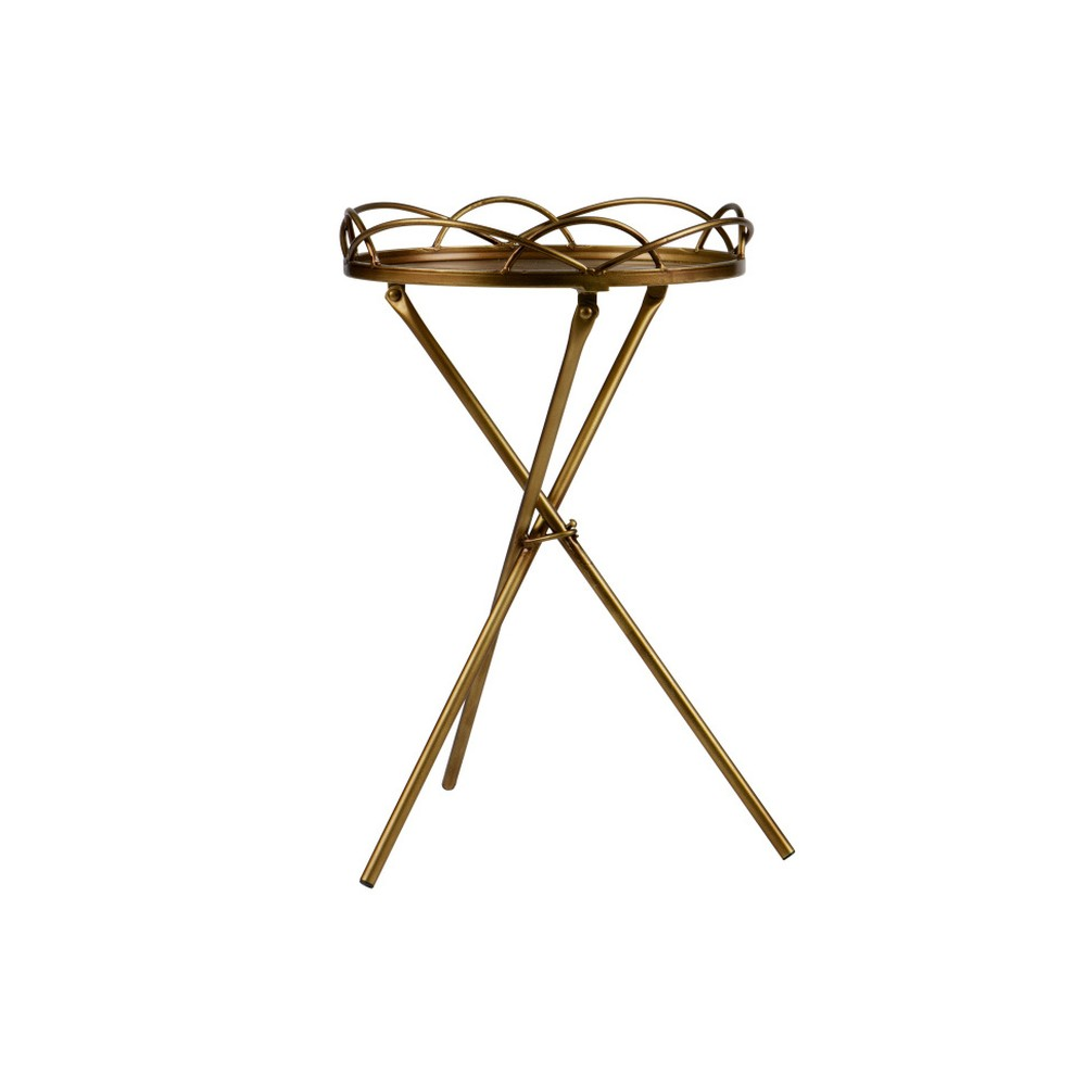 Kovový odkladací stolík De Eekhoorn Films, Ø36×54cm