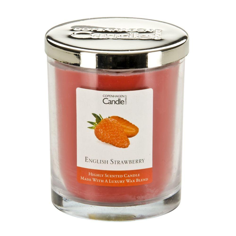 Aromatická sviečka Copenhagen Candles English Strawberry, doba horenia 40hodín