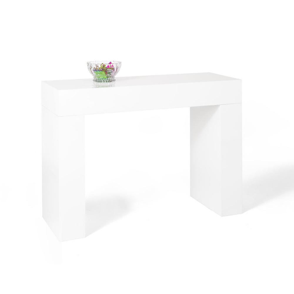 Biely konzolový stolík MobiliFiver Evolution