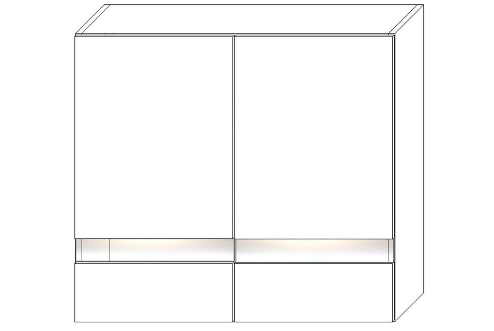 FRED horná vitrínová skrinka WS80-720