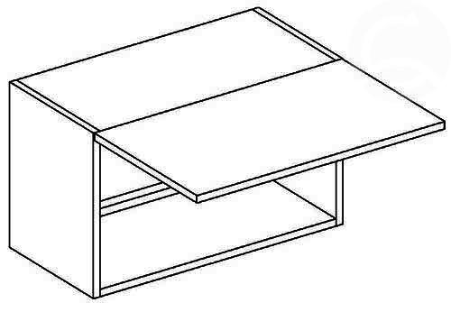 >> W60OK/30 digestorová skrinka, výška 30 cm, vhodná ku kuchyni NORA