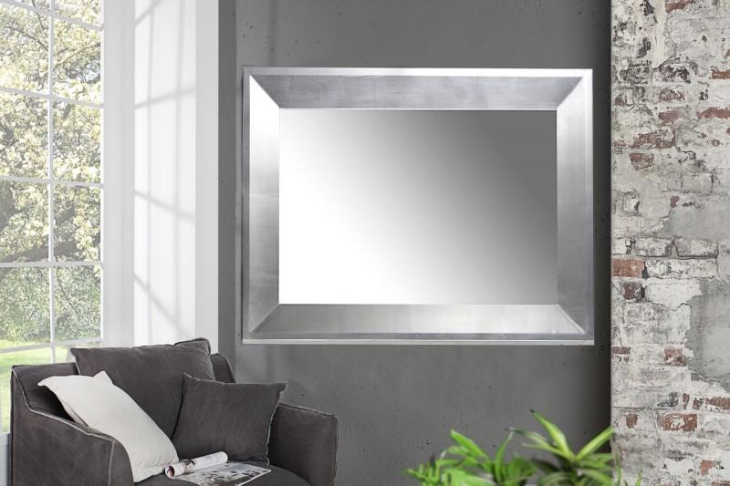 Nástenné zrkadlo BARCCA - strieborná