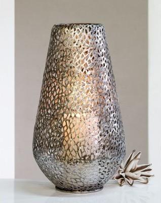 Dekoratívny svietnik PURLEY 46 cm - antická strieborná