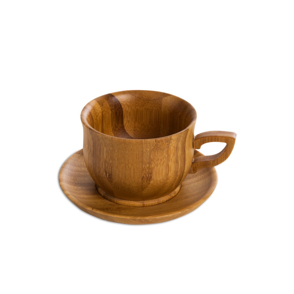 Šálka s tanierikom z bambusového dreva Bambum Cortado