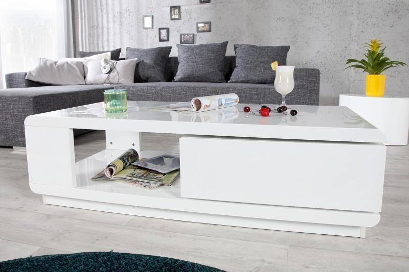 Konferenčný stolík FORTUNA - biela