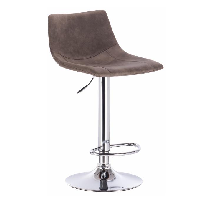 TEMPO KONDELA Barová stolička, sivohnedá/kov, LENOX
