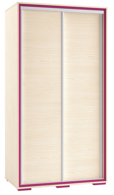 Šatníková skriňa BONTI 02   Farba: cyklaménová