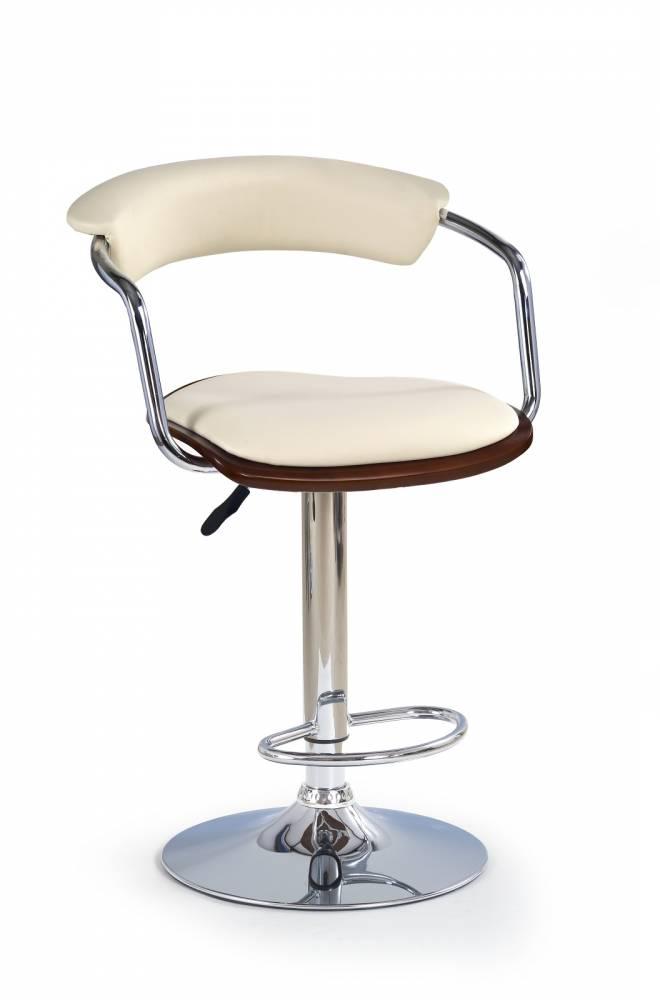 Barová stolička H-19 Čerešňa antická + Béžova