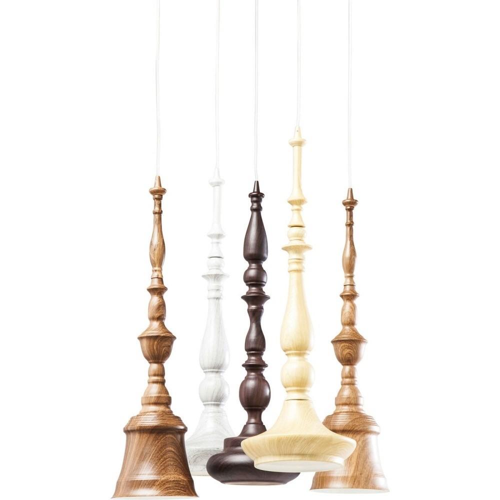 Závesné svietidlo s 5 objímkami Kare Design Tornito Spiral