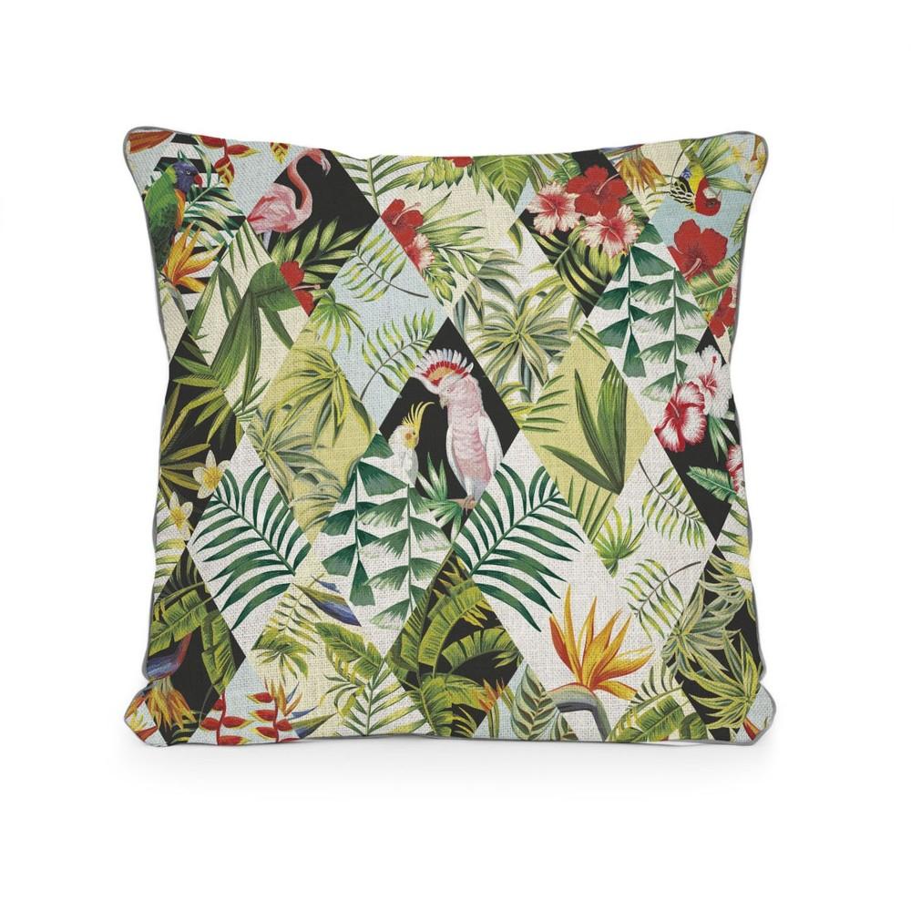 Vankúš Surdic Tropical Patchwork, 45×45 cm