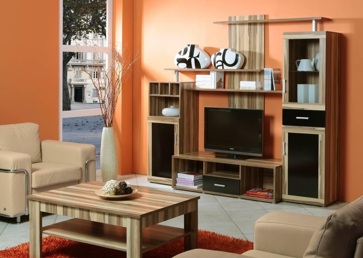 Jednoduchá obývacia stena TYCOON, baltimore/čierna