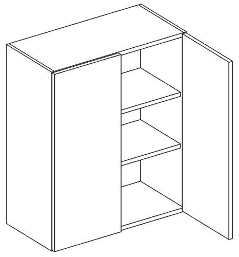 W60 horná skrinka 2-dverová vhodná ku kuchyni DARK, LATTE