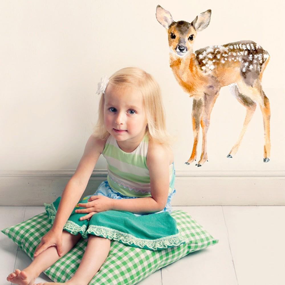 Samolepka na viac použití Baby Deer, 40x30 cm