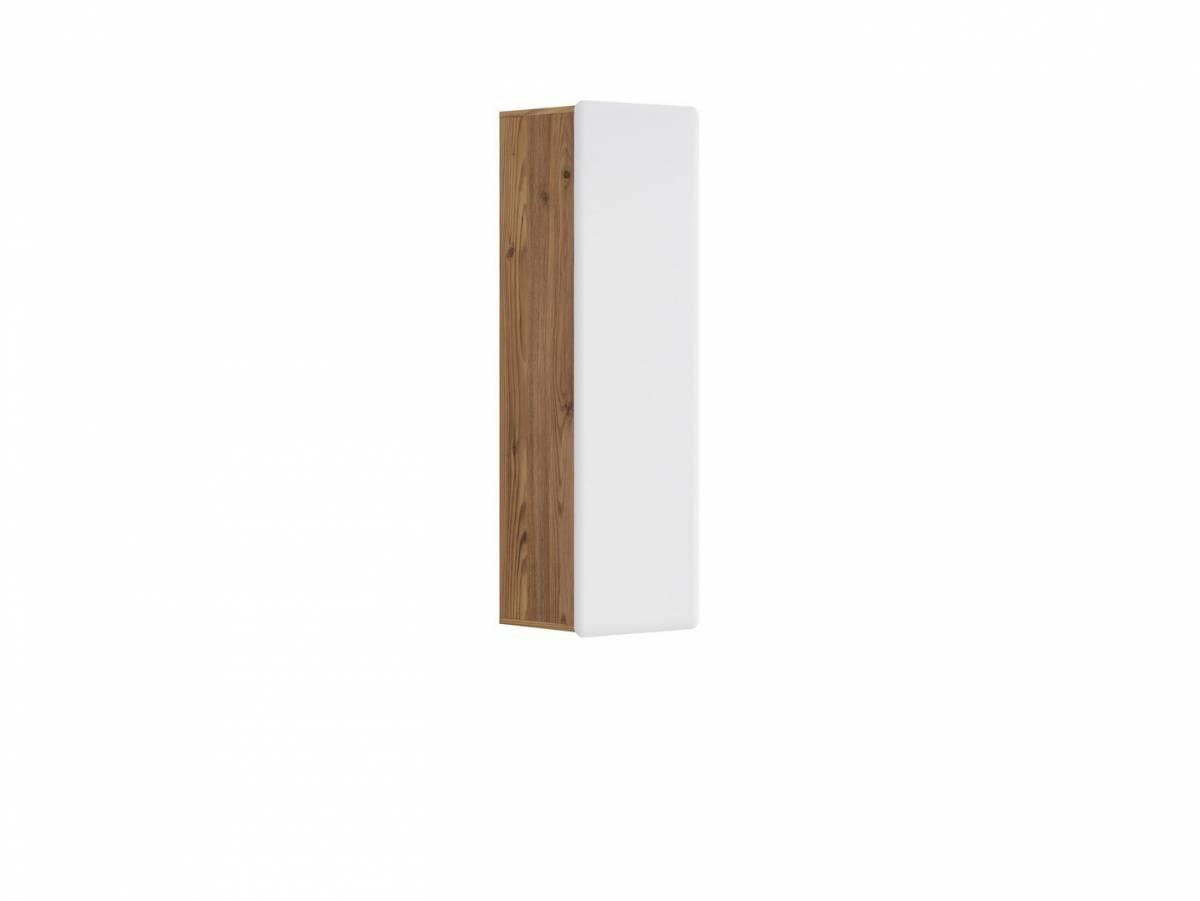 Skrinka na stenu Possi Light SFW1D/13/4 (smrekovec sibiu zlatý + lesk biely)