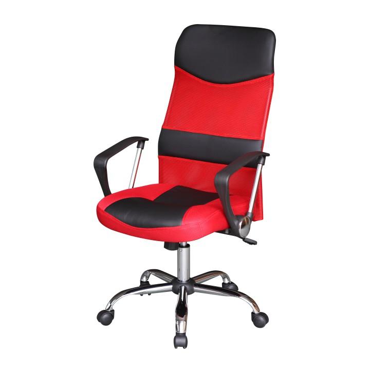 Kancelárska stolička TC3-973M  EKO CIERNA+CERVENA SIETKA