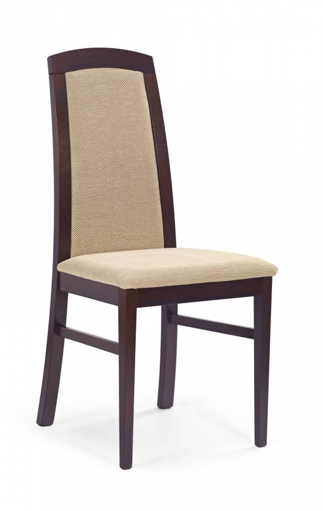 Jedálenská stolička Dominik Orech tmavý + béžová