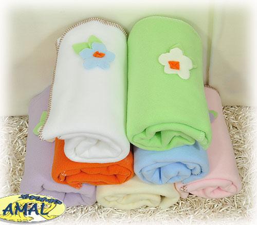 AMAL Flaušová deka, KVIETOK, 4 farby