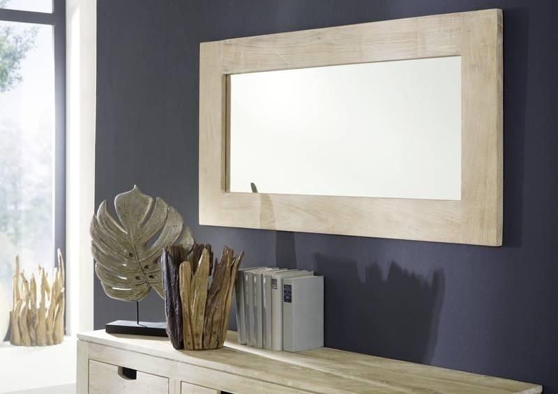 NATURE WHITE zrkadlo #01 lakovaný agátový nábytok