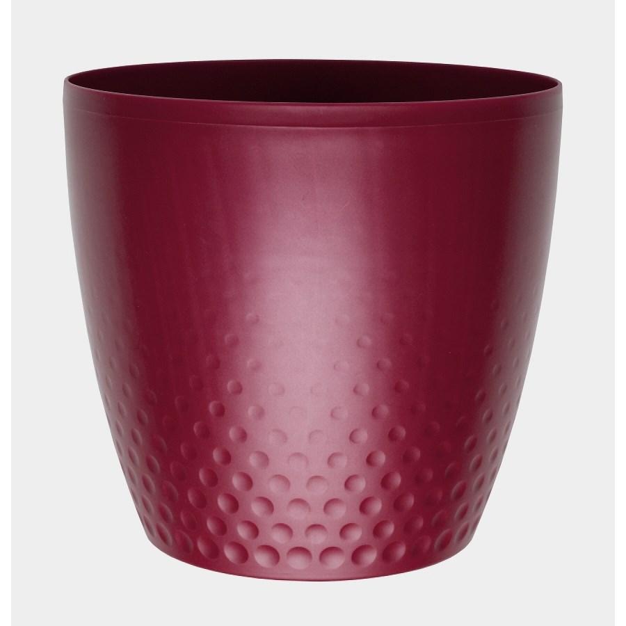 Plastový kvetináč Perla 16 cm, vínová, Plastia, pr.16 cm
