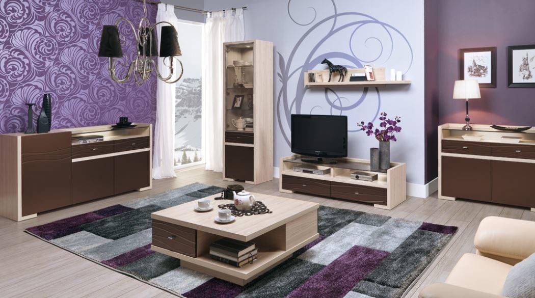 BOG-FRAN CLEVER obývacia izba - tuja / hnedá metalíza