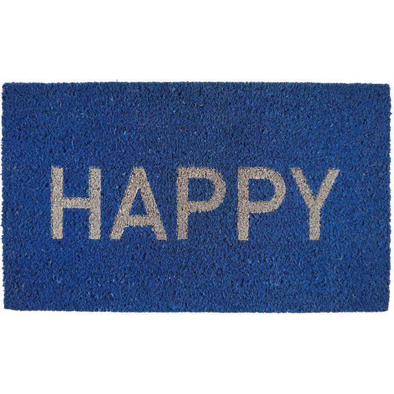 Modrá rohožka Fisura Happy,40x70cm