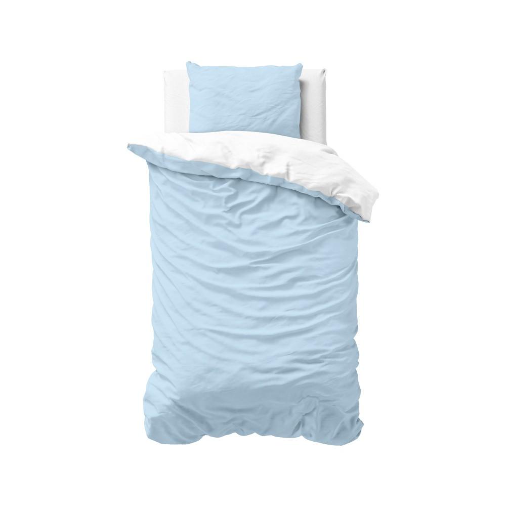 Modro-biele obliečky z mikroperkálu Zensation Twin, 140×200 cm