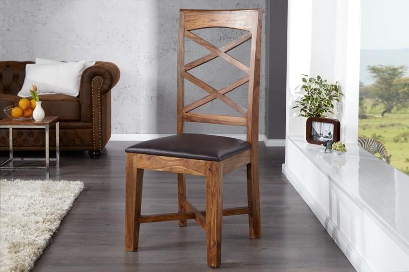 Jedálenská stolička COUNTRY - hnedá