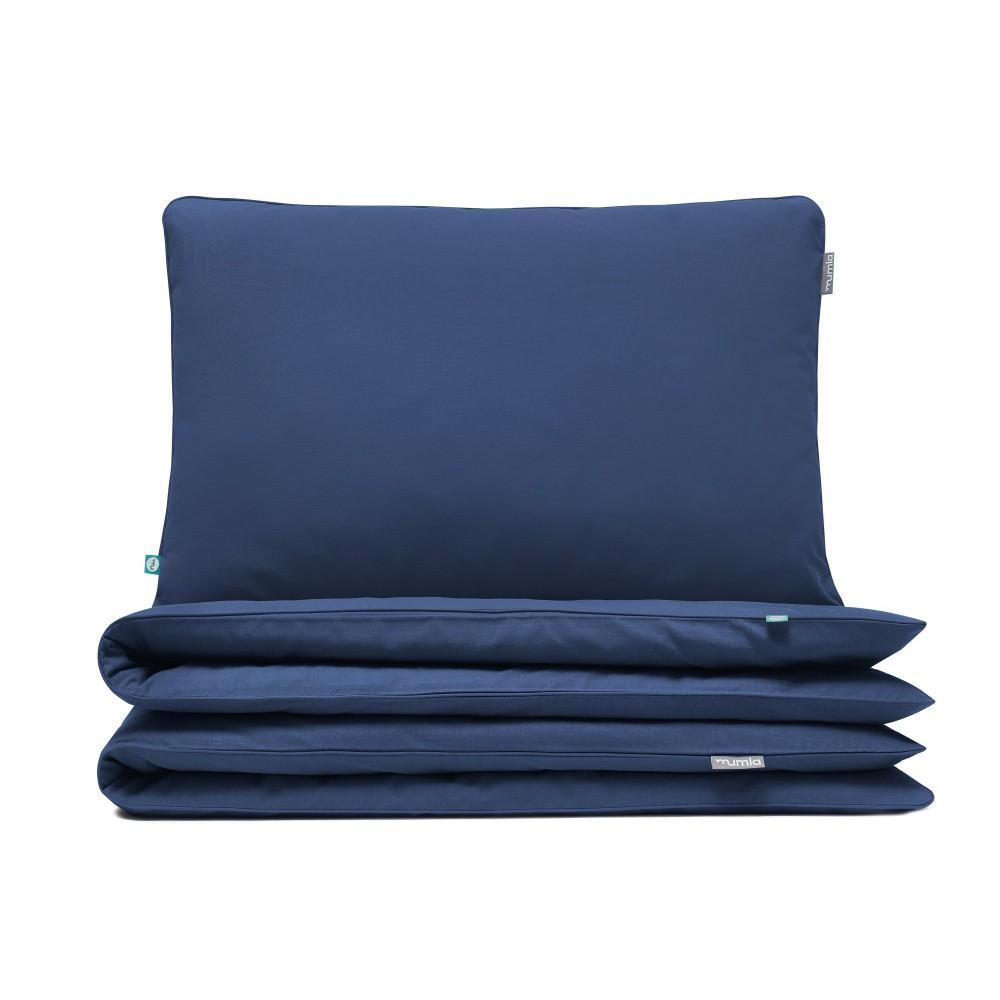 Tmavomodré obliečky Mumla Bedding Set, 140 x 200 cm