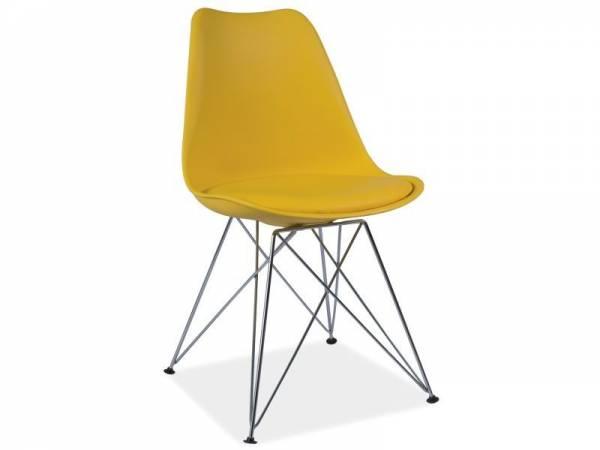 SIGNAL TIM jedálenská stolička - žltá