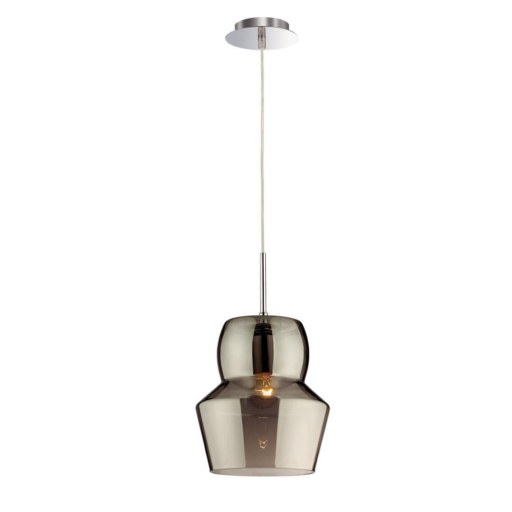 Závesné svetlo Glass Gray, 22 cm