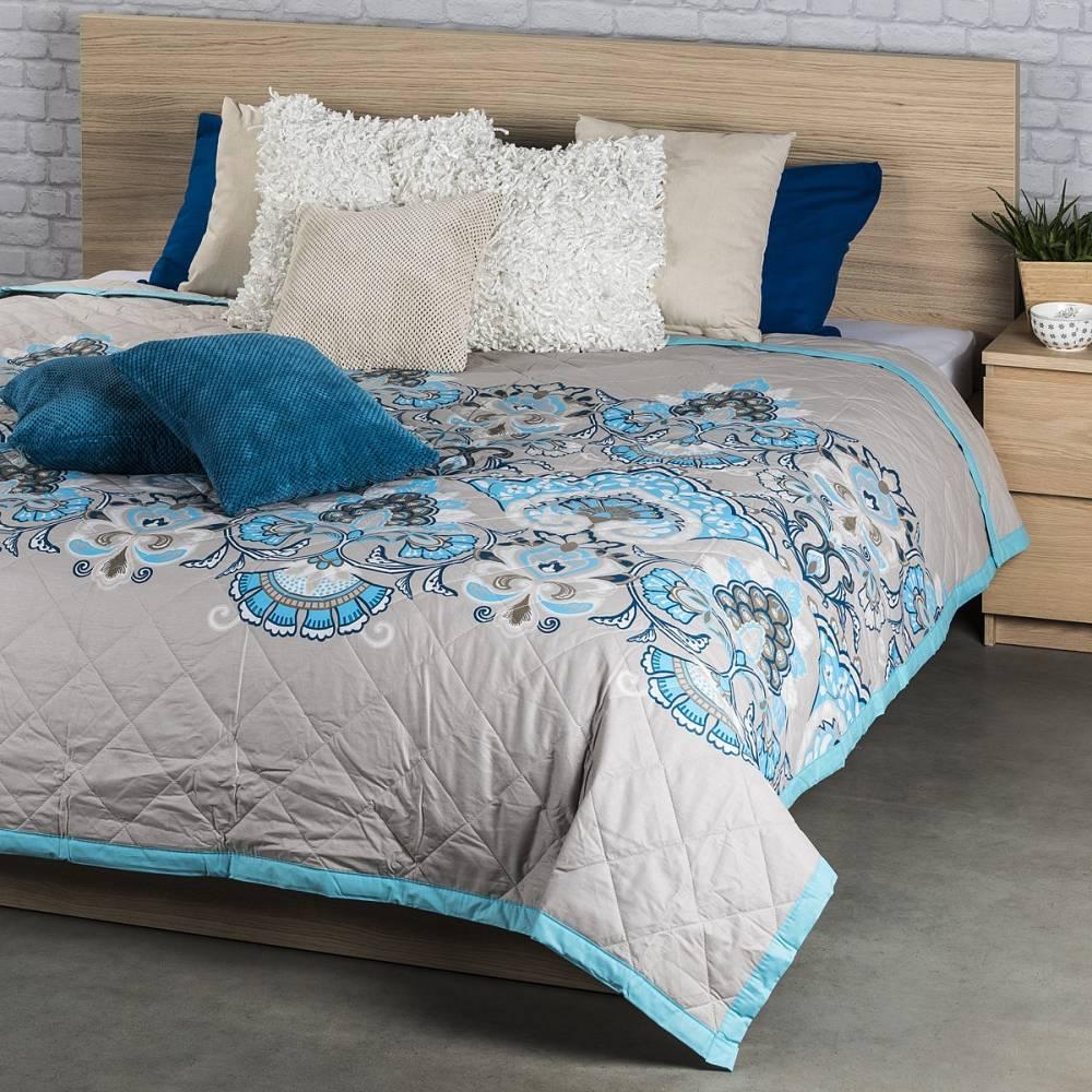 Prehoz na posteľ Laissa tyrkysová, 160 x 220 cm