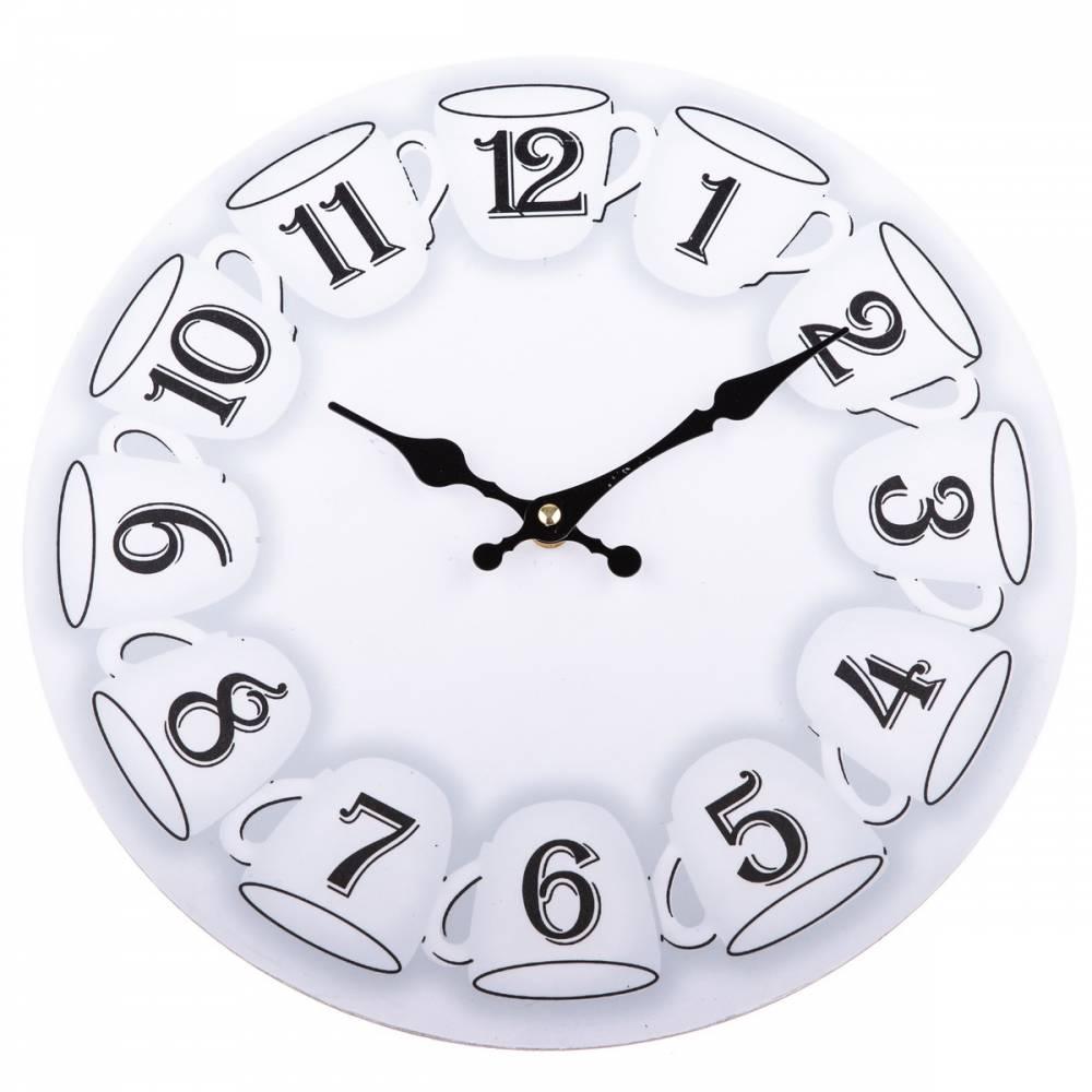 Nástenné hodiny Cups, 34 cm