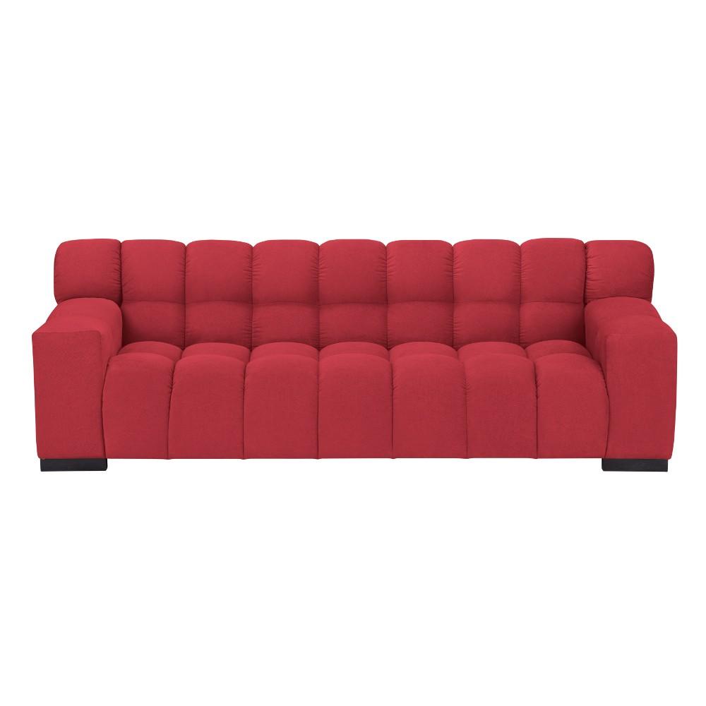 Červená trojmiestna pohovka Windsor & Co Sofas Moon