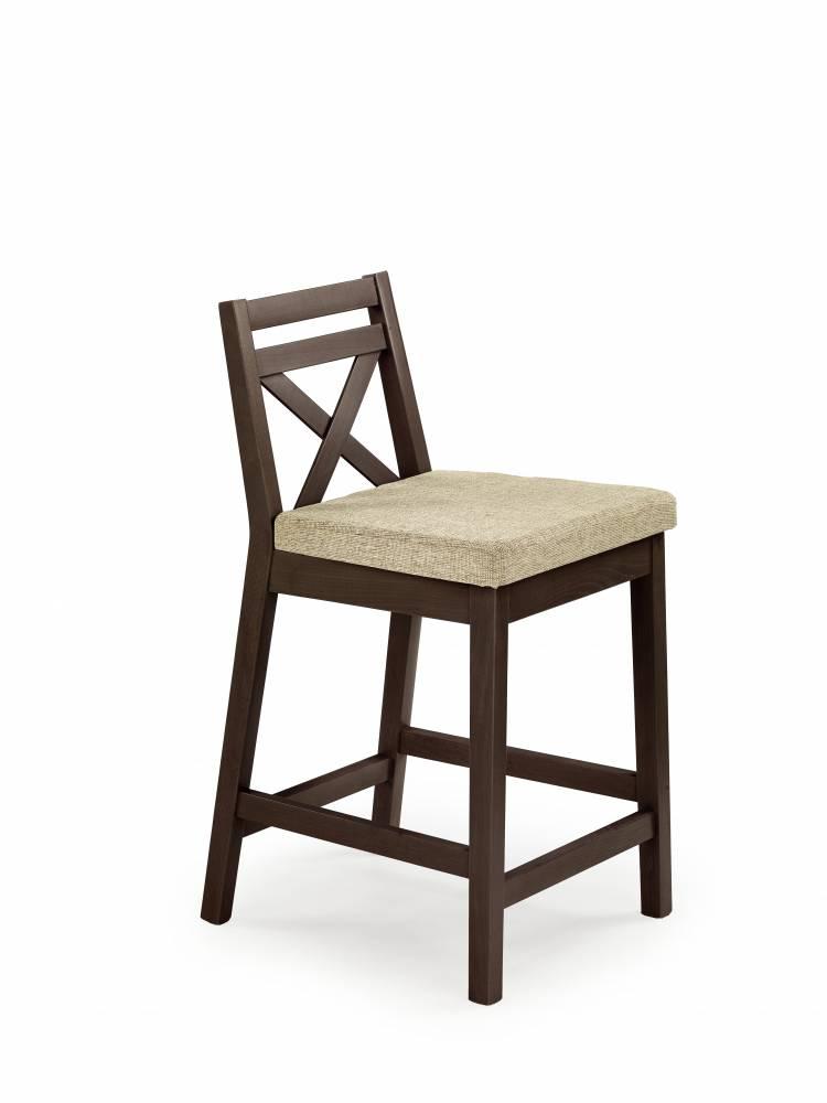 Jedálenská stolička Borys Low (orech tmavý + béžová)