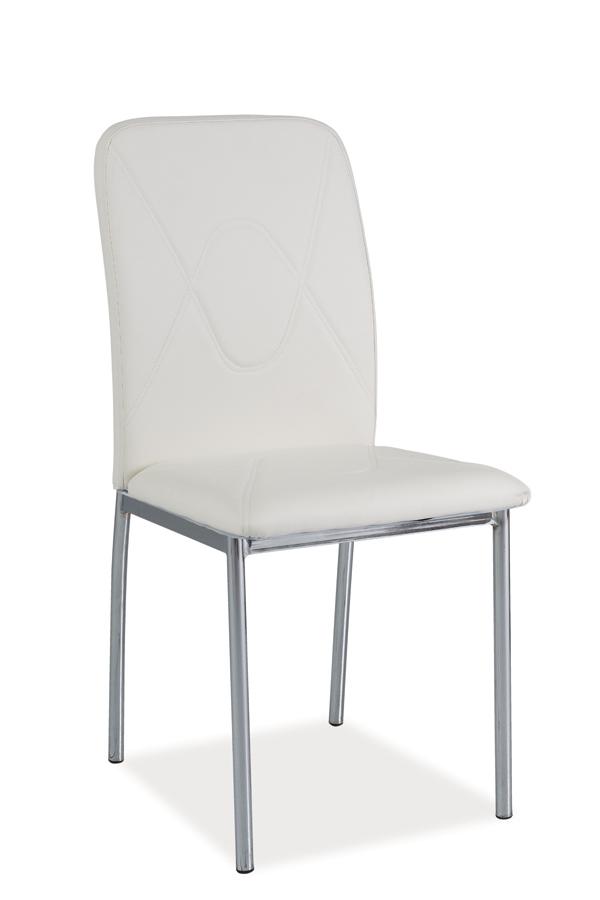 Jedálenská stolička HK-623, biela/chróm