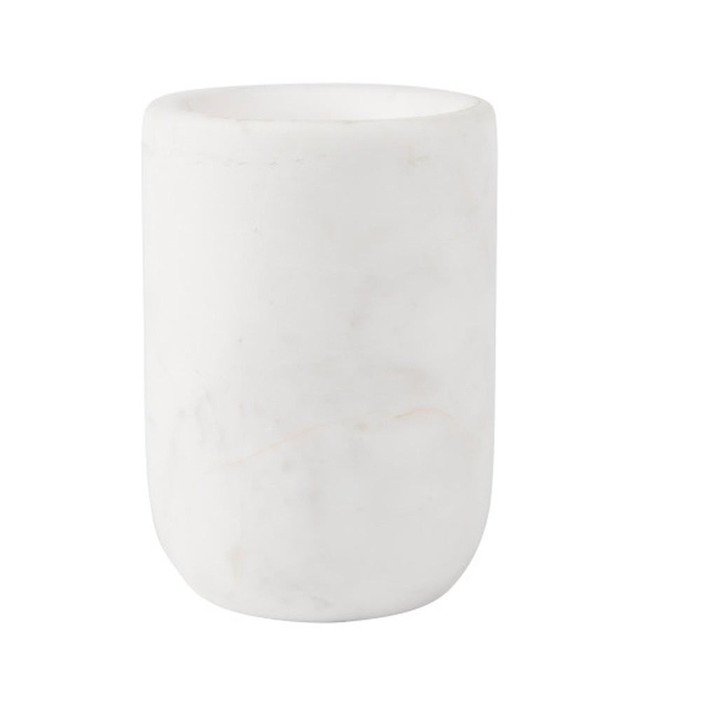 Biela mramorová váza Zuiver Cup