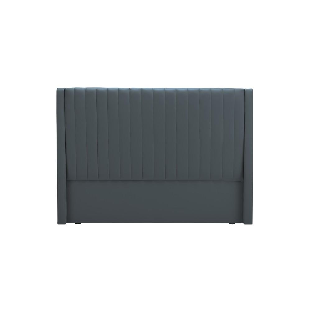 Čelo postele v grafitovosivej farbe Cosmopolitan design Dallas, 180×120 cm