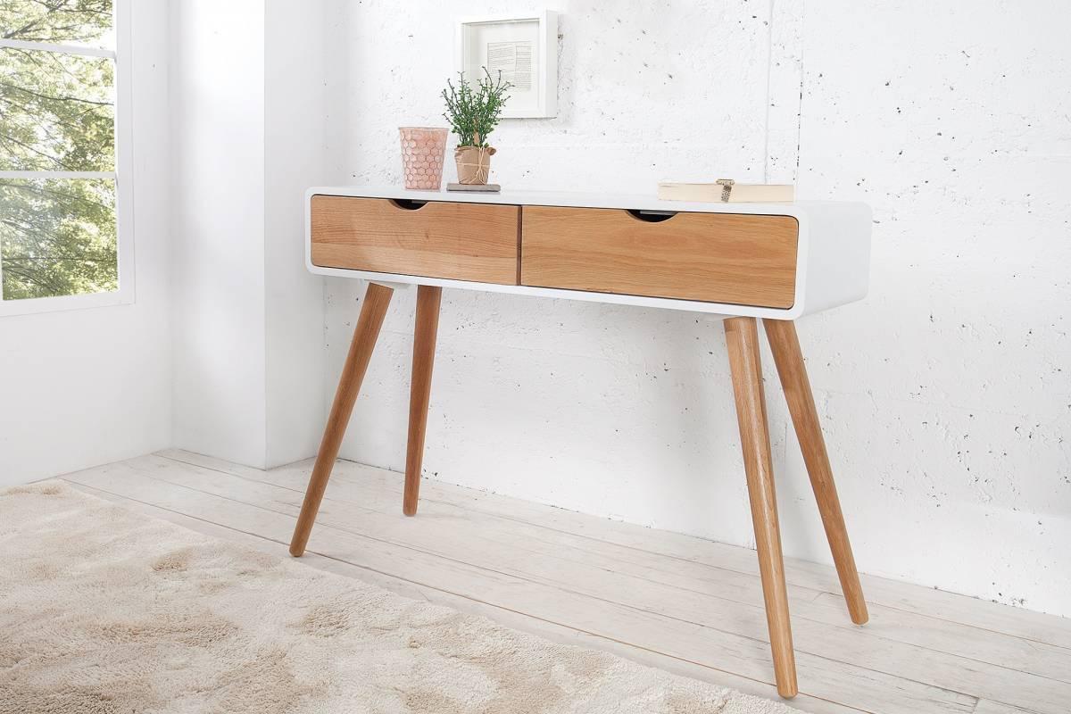 Toaletný stolík SCENDINAVIA 100 cm - biela