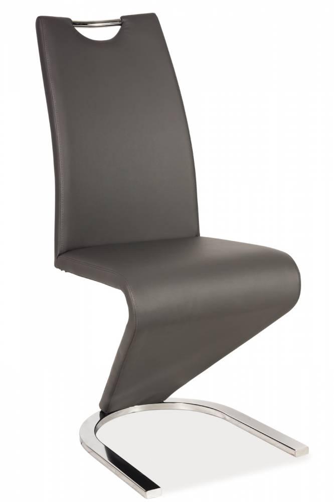 Jedálenská stolička H-090 (ekokoža sivá)