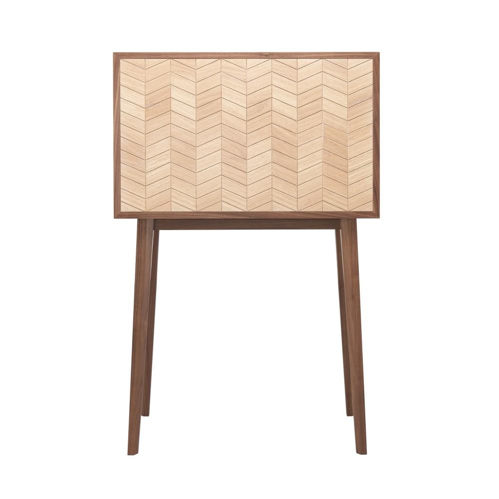 Sekretár z orechového a dubového dreva s 5 zásuvkami Wewood - Portugues Joinery Mister