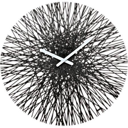 nástenné hodiny Koziol Silk, čierne