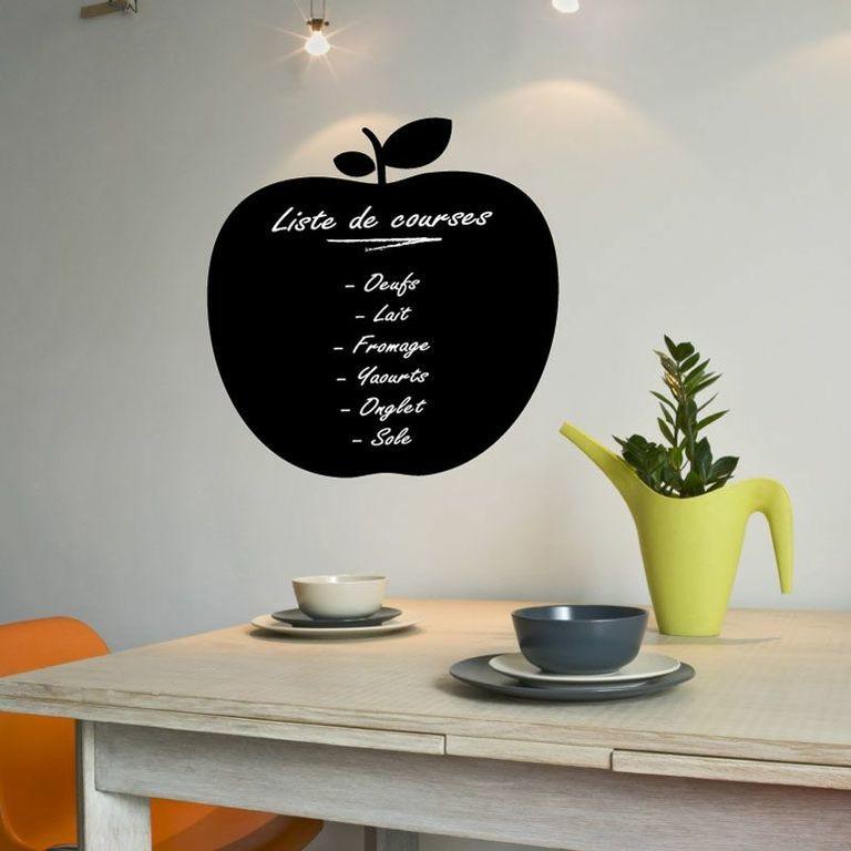 Samolepka s tekutou kriedou Ambiance Apple blackboard, 45x45cm
