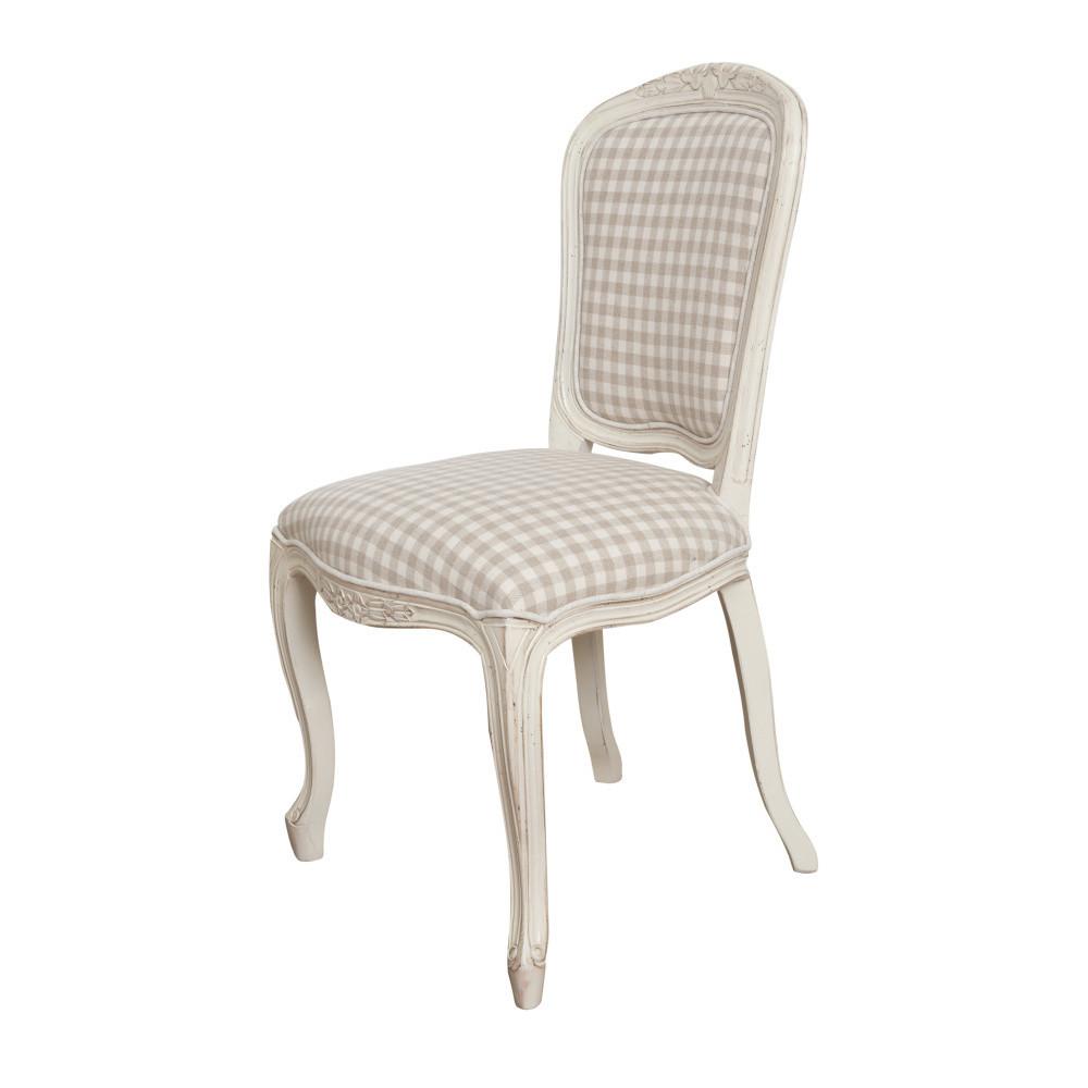 Krémová stolička z brezového dreva Livin Hill Verona