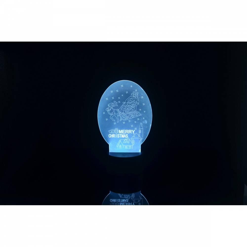 3D LED lampa Vianočné sánky