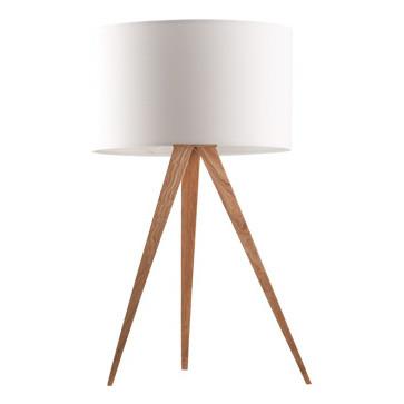 Stolová lampa Tripod wood, white