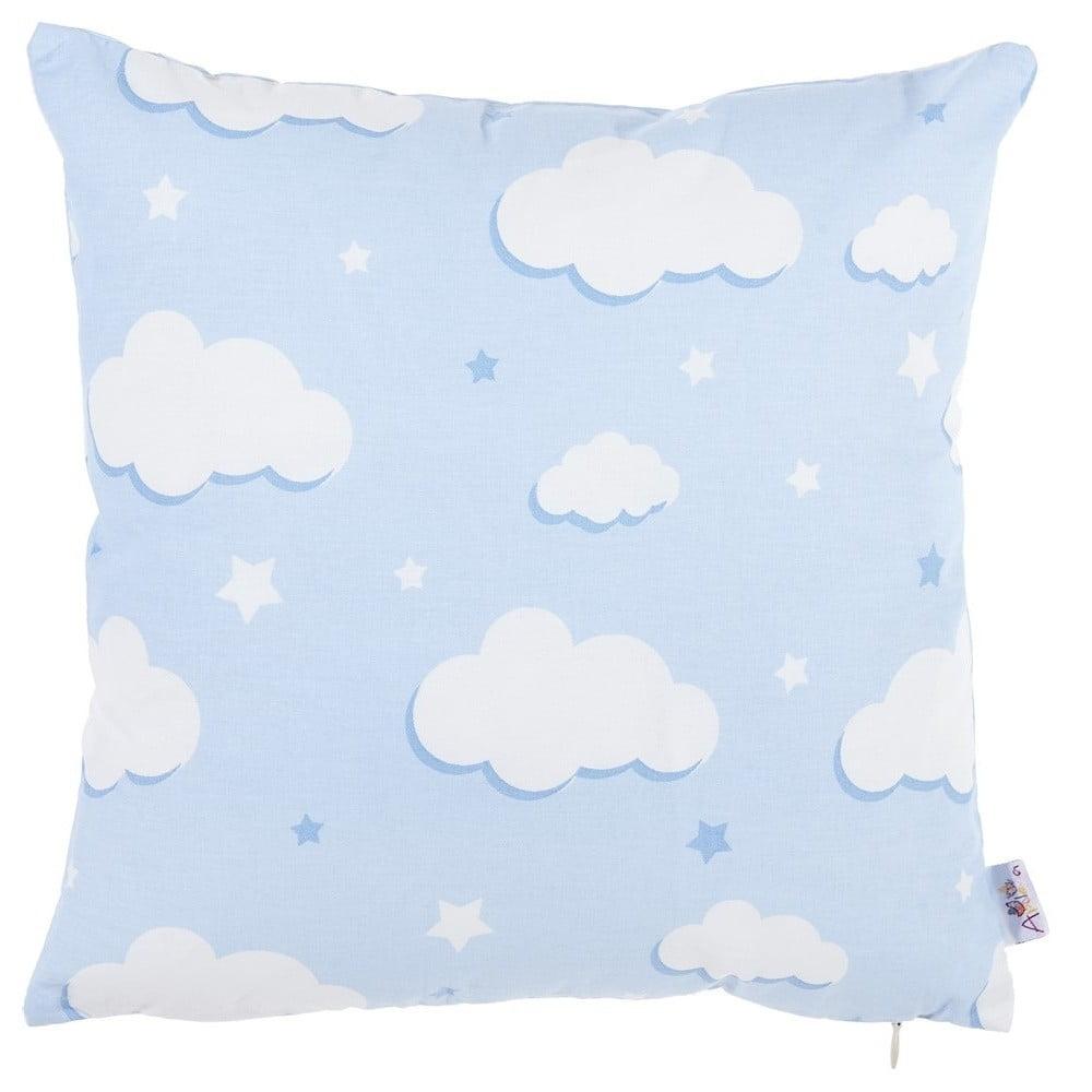 Modrá bavlnená obliečka na vankúš Apolena Skies, 35 x 35 cm