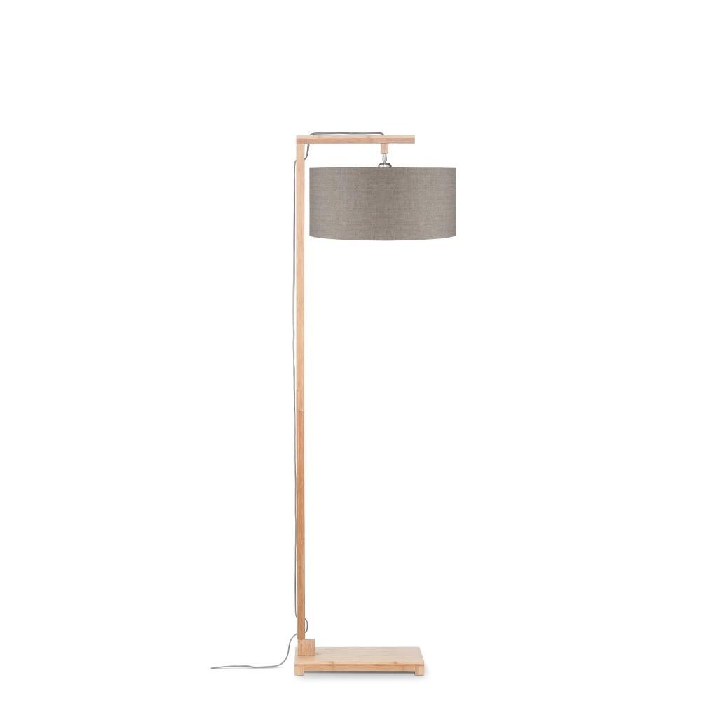 Stojacia lampa s béžovým tienidlom a konštrukciou z bambusu Good&Mojo Himalaya