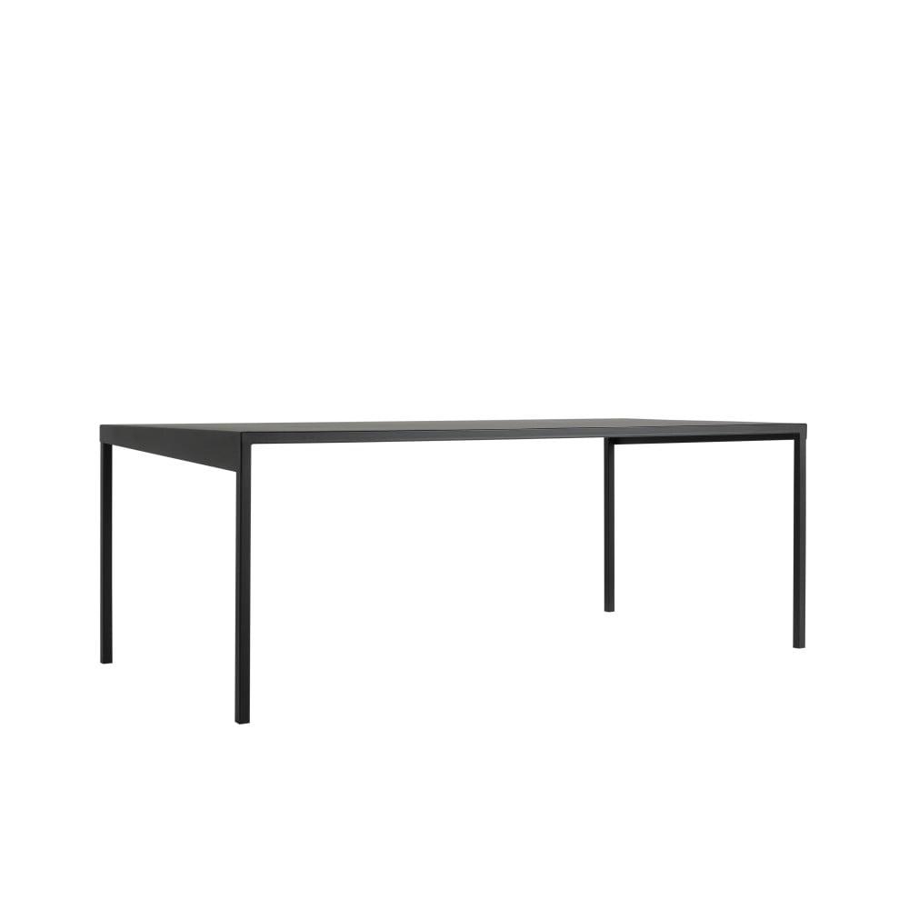 Čierny kovový jedálenský stôl Custom Form Obroos, 180 x 90 cm