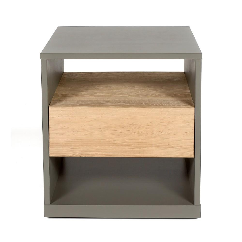 Nočný stolík z masívneho brezového dreva Askala Guscio