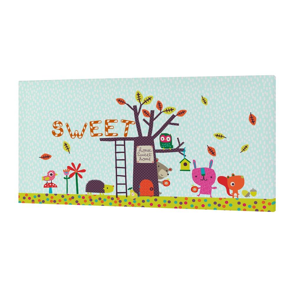 Nástenný obrázok Sweet Home, 27×54 cm